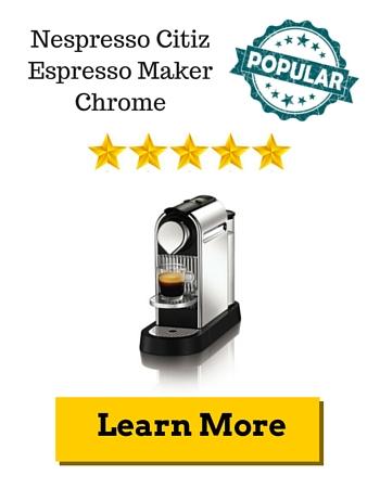 Nespresso Citiz Espresso Maker Chrome